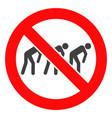forbidden slavery icon vector image