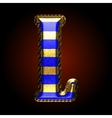 golden and blue letter l vector image vector image