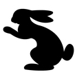 Hare Silhouette vector image vector image