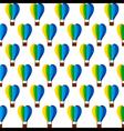 heart shape hot air balloon design vector image