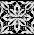intricate damask black and white floral vector image