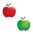 juicy apples vector image vector image