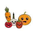kawaii happys vegetables icon vector image vector image