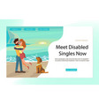 landing page for relationships of disabled people vector image vector image