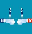 libra vs yuan coin digital currency technology vector image