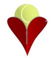 love tennis vector image vector image