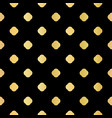 metallic gold on black polka dot seamless vector image