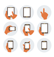 Mobile communication flat icons vector image vector image