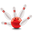 object skittles and bowling ball vector image vector image