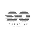 oo o zebra letter logo design with black and vector image