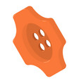 orange button shirt icon isometric 3d style vector image vector image