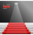 Photorealistic Stairs Podium with Red vector image vector image