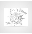 Poster with abstract hamd drawn flower vector image