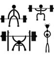 Powerlifting vector image vector image