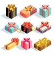 Present and gift boxes vector image vector image