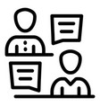 reception crew icon outline style vector image vector image