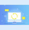 remarketing web sites computer update online vector image vector image
