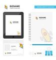 rocket business logo tab app diary pvc employee vector image vector image
