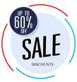 sale discount 60 off circle frame background vect vector image vector image
