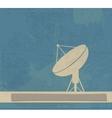 Satellite Dish Retro poster vector image