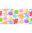 seamless children pattern with colorful splash of vector image vector image