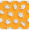 seamless pattern kettle with a long shadow vector image vector image