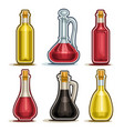 set isolated bottles vector image vector image