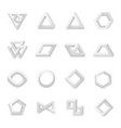 set of impossible shapes optical isolated on vector image vector image