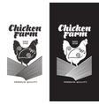 set of logos with chicken vector image