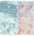 Set of three seamless grunge patterns vector image
