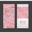 Set of wine labels Artistic watercolor background vector image vector image