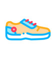 special sports shoes icon outline vector image