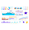 statistic graph graphic bars round infographic vector image vector image
