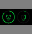 stopwatch countdown digital green timer display vector image vector image