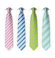 Striped silk ties vector image vector image