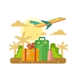 Summer Vacation Travel flat vector image vector image