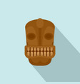 tiki head idol icon flat style vector image vector image