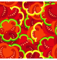 tomato pattern vector image vector image