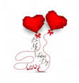 Valentines day with heart symbol vector image vector image