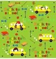 Cute school cartoon seamless pattern Back to vector image
