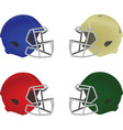 colorful helmets set vector image