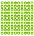 100 farm icons set green circle vector image vector image