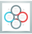Abstract 4 Circle Ribbon Infographic 1 vector image