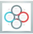 abstract 4 circle ribbon infographic 1 vector image vector image