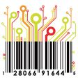 abstract barcode vector image vector image