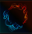abstract fire and ice vector image