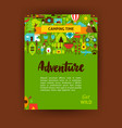 adventure template poster vector image vector image