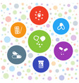 antibiotic icons vector image vector image