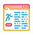 athlete information document folder icon vector image vector image