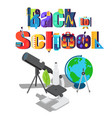 back to school sticker with scientific objects vector image vector image